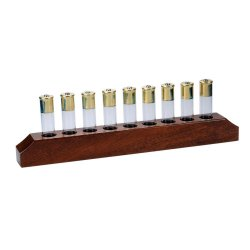 Mahogany Bar Cartridge Shot Glass Holder
