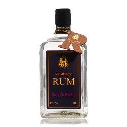 Sloe and Raisin Rum 70cl : A delightful blend of fruity flavour from the Sloe and raisin with a lovely punch from the Rum