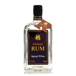 Spiced White Rum 70cl : A white Rum with Christmas spices including cinnamon,cloves and nutmeg, just delicious