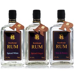 Trio of Rums : 70cls Sloe and Raisin ,Spiced Ginger ,Spiced White Christmas .Great saving