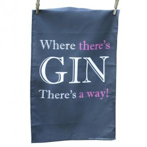 Where There's Gin' Tea Towel