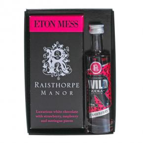 Eton Mess Chocolate Bar with Vodka Gift Set - Eton Mess Chocolate Bar & Strawberry Vodka 5cl