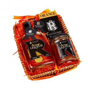 Mini Orange Hamper : 35cl Orange Liqueur Vodka, Orange choc bar, Orange Liqueur Jam