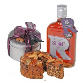 Sloe Gin Fruit Cake and Sloe Gin