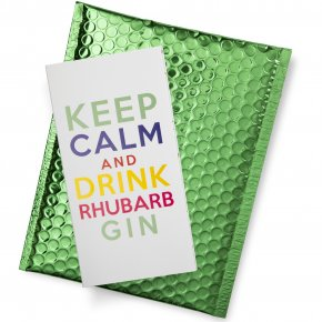 Keep Calm and Drink Rhubarb Gin