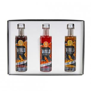 Wild Vodka Liqueur 5cl Triple Set 1 - Flavours Include Tangy Orange, Chocolate & Toffee/Caramel