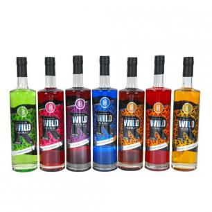 Wild Vodka Liqueur 70cl Collection - Green Apple, Toffee, Chocolate, Strawberry, Rasp & Apple, Tangy Orange, Blackcurrant
