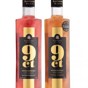 9ct Shimmering Blood Orange/Toffee Caramel Vodka Liqueur Duo 35cl