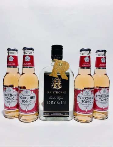 Yorkshire G&T Pack - Oak Aged Gin and Strawberry & Pomegranate Tonics