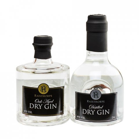 Yorkshire Gin Stackers Combo -  A  Raisthorpe Distilled Dry Gin with a Oak Aged Dry Gin Stacker