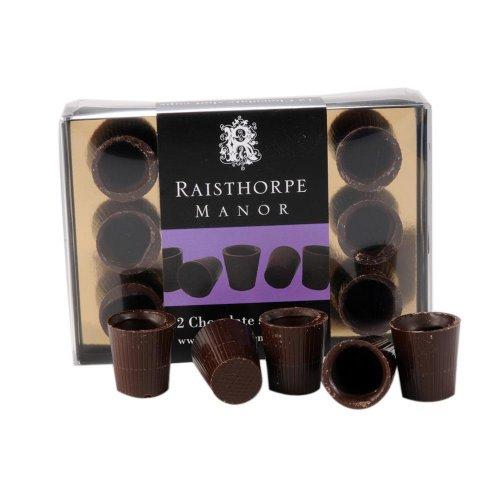 Dark Chocolate Shot Cups 12 Pack